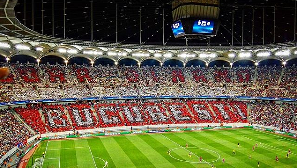 Фанаты «Динамо» Бухарест сорвали перфоманс «Стяуа»